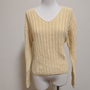 3FOR$20 Eddie Bauer yellow sweater size sma